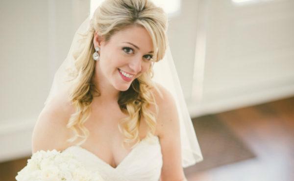 fringe bridal hair and makkeup